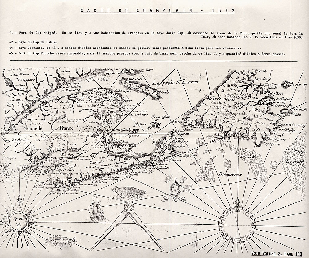 Champlain Map of New France 1632